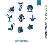 christmas and winter icons... | Shutterstock .eps vector #541019911