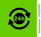 24 hours symbol icon flat disign