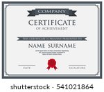 certificate with wax seal... | Shutterstock .eps vector #541021864