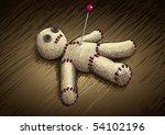 voodoo doll hand drawing vector ... | Shutterstock .eps vector #54102196