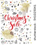 christmas sale vintage vector... | Shutterstock .eps vector #541025041