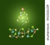 christmas color garland... | Shutterstock .eps vector #541026109
