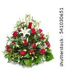 green funeral fir wreath with...   Shutterstock . vector #541030651