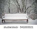 Winter Snow Landscape Park Bench