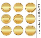 luxury retro badge and labels...   Shutterstock .eps vector #541036021