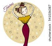 cute zodiac sign taurus   Shutterstock .eps vector #541036387
