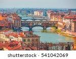 Ponte Vecchio Over Arno River...