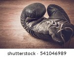 old boxing glove. glove passed...   Shutterstock . vector #541046989