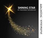 shining star on dark...   Shutterstock .eps vector #541047499