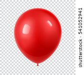 3d realistic colorful balloon.... | Shutterstock .eps vector #541052941