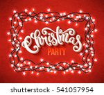 christmas party poster with... | Shutterstock . vector #541057954