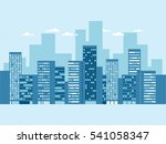 urban landscape with buildings... | Shutterstock .eps vector #541058347