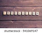concept of innovation made of... | Shutterstock . vector #541069147