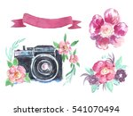 Watercolor Spring Set With...