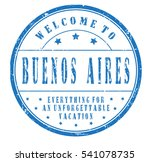 """rubber stamp """"welcome to buenos ... 