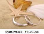 Two Wedding Ring On Sands