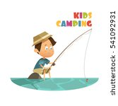 Camping And Fishing Children...