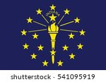 indiana state flag  usa. vector ... | Shutterstock .eps vector #541095919