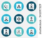set of 9 editable religion...