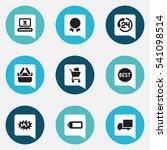 set of 9 editable trade icons....