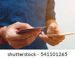 close up man using smart phone... | Shutterstock . vector #541101265