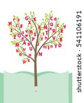 tree with alphabet letters.... | Shutterstock .eps vector #541106191