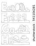 alphabet coloring page. letters ... | Shutterstock .eps vector #541106281
