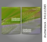 vector brochure template design ... | Shutterstock .eps vector #541111585