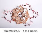 christmas cookies on a white... | Shutterstock . vector #541113301