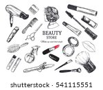 beauty store background with... | Shutterstock . vector #541115551