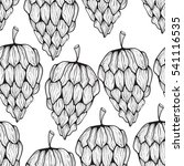 vector seamless pattern with... | Shutterstock .eps vector #541116535