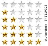 golden stars rating template... | Shutterstock . vector #541119325