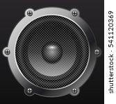 sound speaker isolates on black ... | Shutterstock . vector #541120369