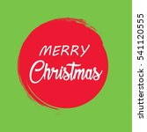 merry christmas vector text... | Shutterstock .eps vector #541120555