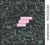 39 handdrawn caligrafic... | Shutterstock .eps vector #541121161