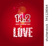 happy valentines day background | Shutterstock .eps vector #541128064