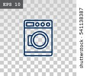 washing machine icon vector. | Shutterstock .eps vector #541138387
