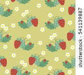 seamless pattern with red... | Shutterstock .eps vector #541139887