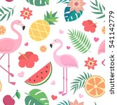 vector seamless tropical... | Shutterstock .eps vector #541142779