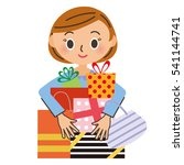 shopping and woman | Shutterstock .eps vector #541144741