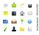 office end business icons | Shutterstock .eps vector #54114700
