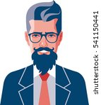 hipster beard and wearing... | Shutterstock .eps vector #541150441