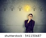 young happy man leaning on a... | Shutterstock . vector #541150687