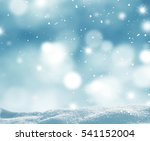 Winter Background With Snow An...