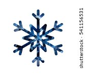 snowflake mosaic icon. blue... | Shutterstock .eps vector #541156531