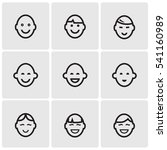 faces line icons | Shutterstock .eps vector #541160989