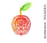 apple abstract illustration on...   Shutterstock . vector #541161811