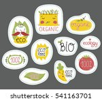 eco and bio food labels set... | Shutterstock .eps vector #541163701