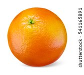 Small photo of Orange fruit isolated on white background.