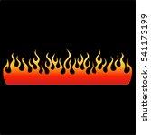flame tattoo tribal vector... | Shutterstock .eps vector #541173199